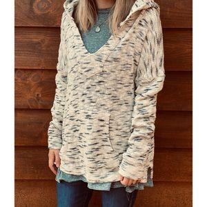 REVOLVE LNA oversized knit hoodie sweater